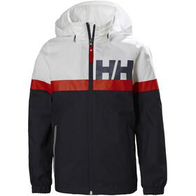 Helly Hansen Active Regnjakke Unge, blå/rød